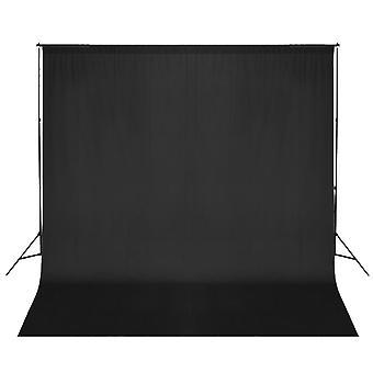 vidaXL photo background system 600 x 300 cm Black