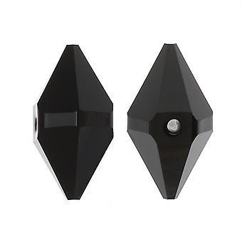 Swarovski Crystal, #5747 Double Spike Bead 16x8mm, 1 kpl, Jet