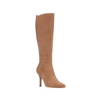 Nine West Womens Fame Leather Pointed Toe Knee High Fashion Boots