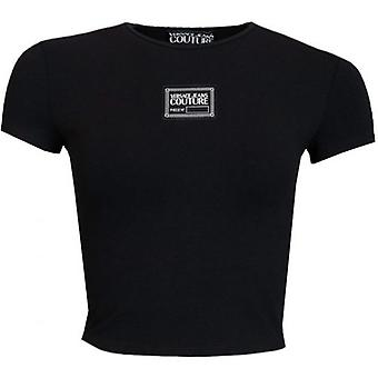 Versace Jeans Couture Centre Logo Cropped T-Shirt