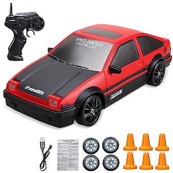 4Wd 1:24 RC الانجراف سيارة لعبة التحكم عن بعد سيارة 2.4ghz 15km / ساعة سيارة سباق عالية السرعة قبالة الطريق RC الانجراف سيارة لعب الأطفال