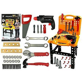 Barns arbetsbänk med verktyg – Vikbar att fodral