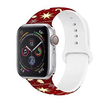 Watch Straps For Apple Watch 5 4 3 2 1 Silicone Christmas Tree Bracelet For Iwatch Snowman Christmas Band