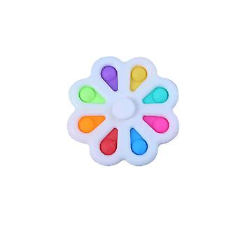 Colorful Finger Spinner Push Pop Bubble Stress Relief Toys For Kids