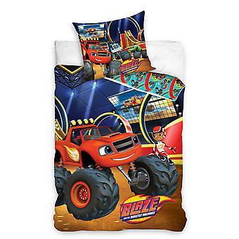 Blaze Blazing Reversible Single Duvet Cover and Pillowcase Set -