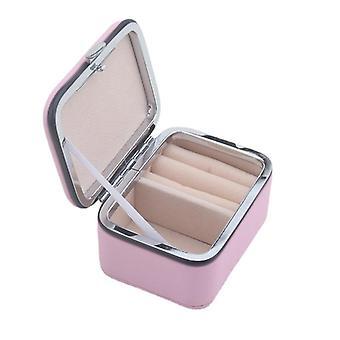 مربع تخزين المجوهرات الصغيرة حقيبة مستحضرات التجميل الطازجة مربع الأقراط المحمولة