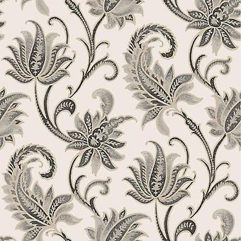 Rasch Sorrento Neoclassical Black Cream Tapet 519303