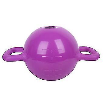 bærbare Kettlebell Yoga Fitness Udstyr, kan øge vægten ved at injicere vand (Lilla)