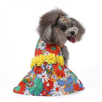 Mimigo Sun Flower Cute Pet Dress Dog Dress With Lovely Bow Puppy Dress Strawberry Cherry Lemon Pet Apparel Dog Clothes For Small Dogs And Cats