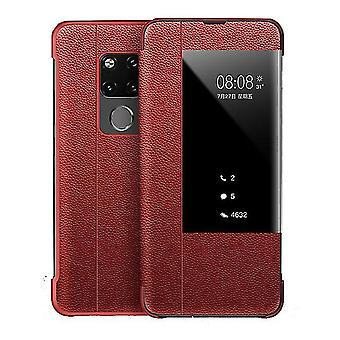 Caja de cuero Huawei P20 PRO Flip - Rojo