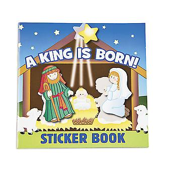 12 A King is Born Christian Nativity Sticker Book for Christmas Parties