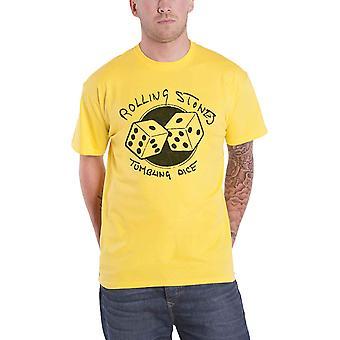 The Rolling Stones T Shirt Tumbling Dice Band Logo nouveau jaune officiel