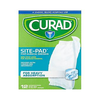 Curad site-pad post surgical dressing, heavy absorption, 12 ea
