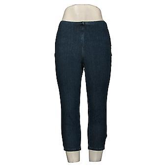 Belle av Kim Gravel Kvinners Petite Jeans Midje Crop Blue A374290