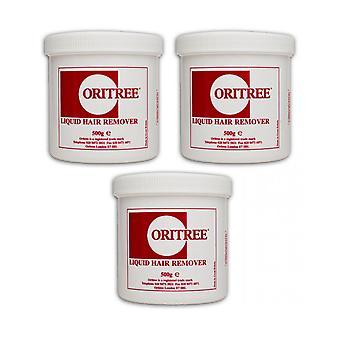Oritree 3 For 2 Original Liquid Hair Remover Natural Soft Wax 500g x 3