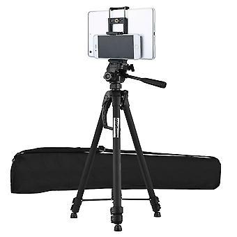 Portable Aluminium Travel Tripod Stand For DSLR Camera Camcorder WF-3560 (Black)