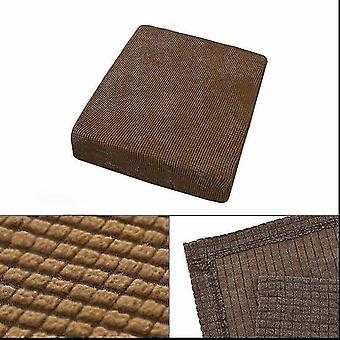 Chaises 1 seatr stretchy sofa seat cushion cover couch slipcovers protector dark brown
