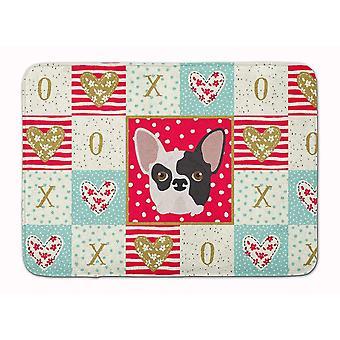 Bath mats rugs french bulldog love machine washable memory foam mat