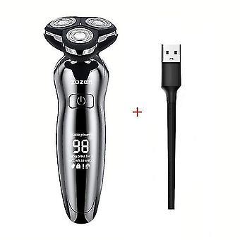 4D sähkö parranajokone miehille sähköparta trimmeri USB ladattava ammatillinen hiustenleikkuri hiukset