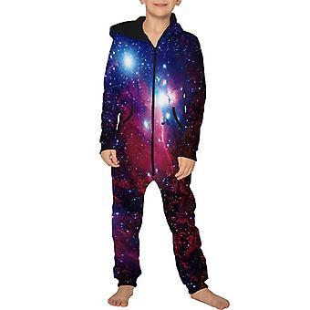 ליל כל הקדושים ילדים ילד ילדה 3d גלקסי הדפס סרבל ברדס חליפת משחק Romper