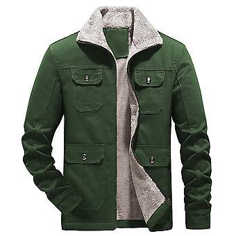 Yunyun Herren Winter Warme Fleece Dicke Baumwolljacke Mantel