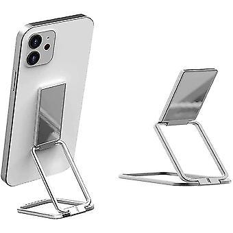 Teleskopisk vikbar mobiltelefonhållare Silver
