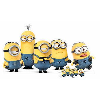 Mischievous Minions Group Pose Cardboard Cutout / Standee /  Standee / Stand up