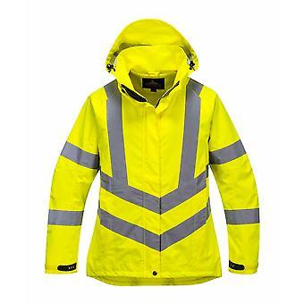 PORTWEST - Ladies Hi-Vis sicurezza Workwear giacca traspirante con cappuccio