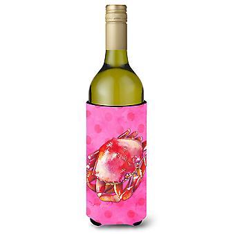 Krabben Sie-rosa Polkadot Wein Flasche Beverge Isolator Hugger