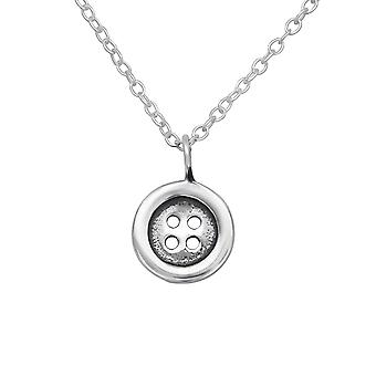 Button - 925 Sterling Silver Necklaces - W29637X