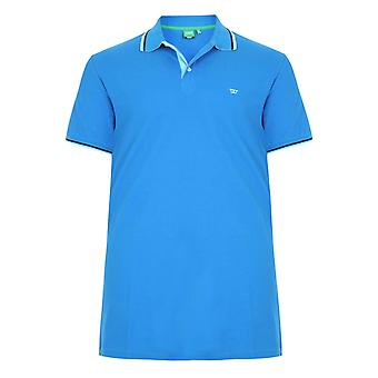 D555 Tall Racer Polo Shirt With Contrast Tipping & Chest
