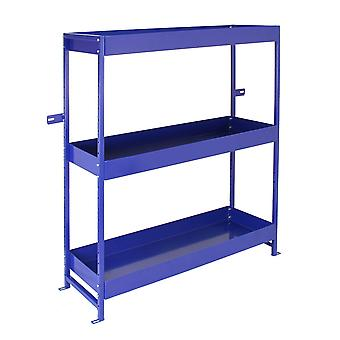 Monster Racking - Estantería Lighting Azul para Furgoneta de Acero Inoxidable con 3 Estantes 116,5cm x 115cm x 34,8cm