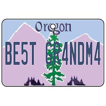 Oregon - meilleure grand-mère License plaque voiture assainisseur d'Air