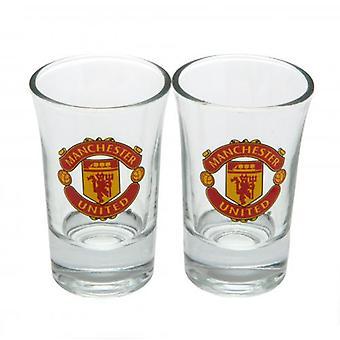 Manchester United 2pk Schnapsglas Set