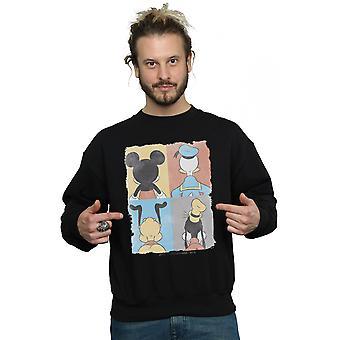 Disney Men's Mickey Mouse Four Backs Sweatshirt