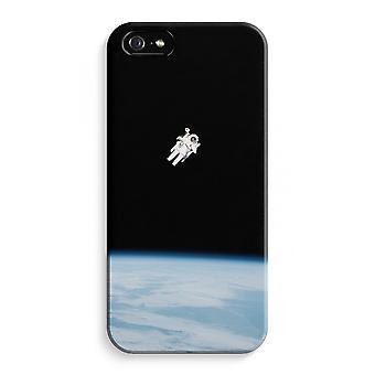 iPhone 5 / 5S / SE fuld det Print tilfælde (blank) - alene i rummet