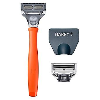 Harry's Razor Handle + 2 Cartridges Orange