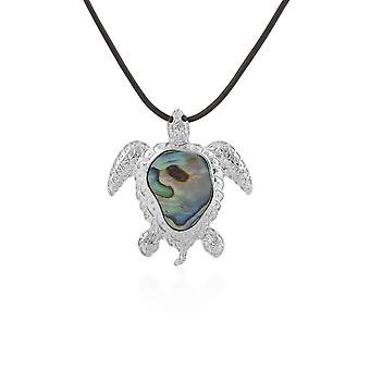 Abalone Woman Pendant Necklace in Turtle Shape 4651