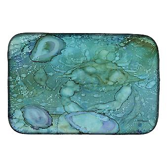 Carolines Treasures  8963DDM Abstract Crabs and Oysters Dish Drying Mat
