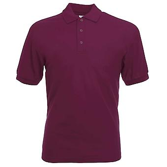 Fruit of the Loom Mens 65/35 Casual Short Sleeve Pique Poly Cotton Polo Shirt
