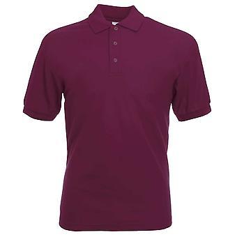 Fruto del telar para hombre 65/35 Casual manga corta Piqué Poly algodón, camisa de Polo