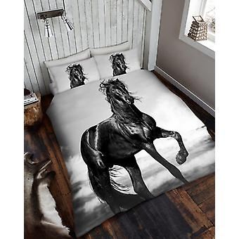 3D Animal Horse Premium Duvet Cover Bedding Set Single Double King