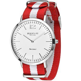 Têxteis de Avenida MADISON nova YORK Unisex relógio de pulso G4741G1