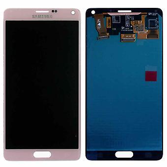 הצגת LCD ערכת המלאה GH97-16565D ורוד ורוד עבור הערה סמסונג גלקסי 4 N910F