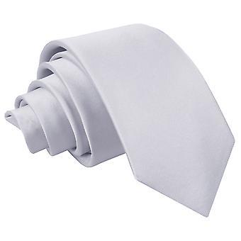 Silber Plain Satin regelmäßige Krawatte für jungen