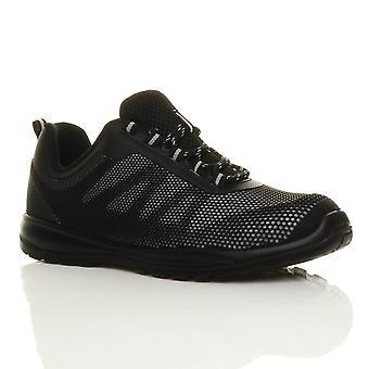 Ajvani mens lett snøre stål tå cap mellomsåle sikkerhet trenere joggesko sko arbeid støvler EN345-S1P