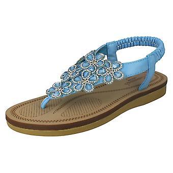 Mesdames Savannah Wedge faible Toepost sandales F0984 *** en attente de PHOTOS ***