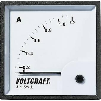 Analoge Rack-Mount-Messgerät VOLTCRAFT pm-72 X 72/1A 1 A Moving iron