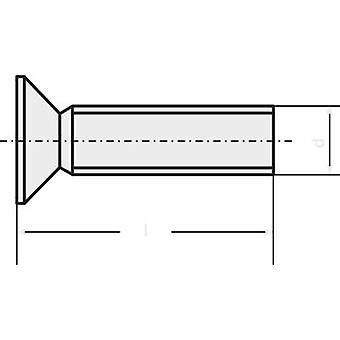 TOOLCRAFT M2 * 6 D965-4.8-A2K 194772 100 STCK. / PACK Countersunk skruer M2 6 mm Slot DIN 965 stål zink forkromet 100 computer(e)