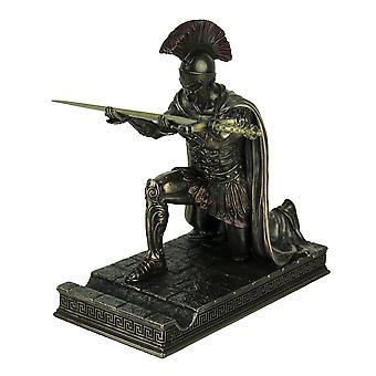 Ouvre-lettre de romain commandant genoux / stylo support fini Bronze Statue